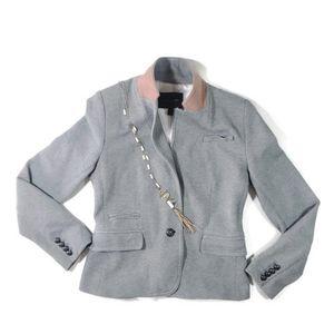 Banana Republic Knit Gray & Pink Hacking Jacket